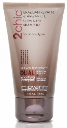GIOVANNI 2Chic Ultra Sleek Brazilian Keratin and Argan Oil Shampoo Travelsize